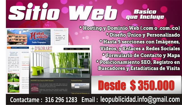 Diseño y desarrollo de Paginas web en Manizales Caldas
