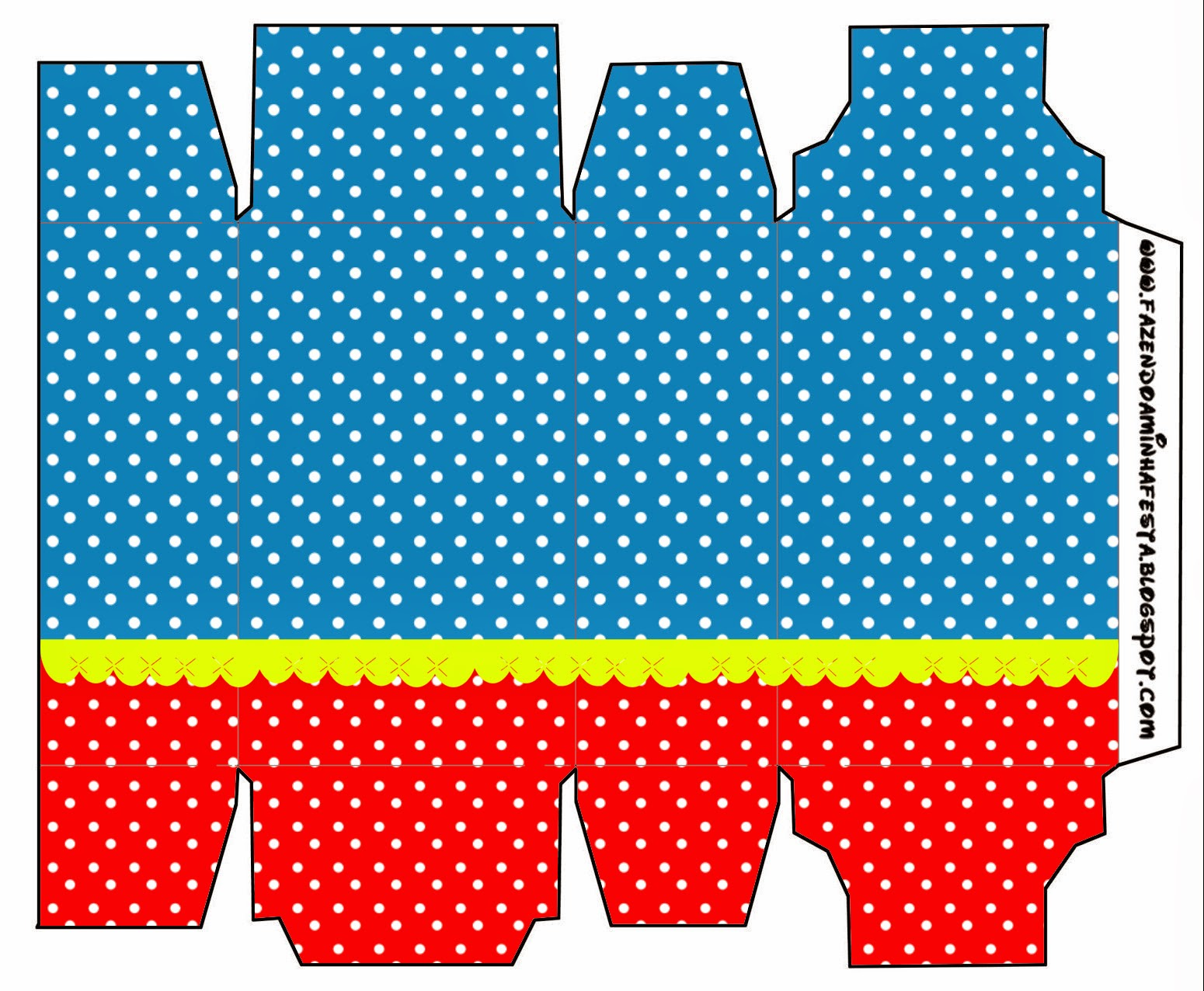Cajas de Rojo, Amarillo y Azul para imprimir gratis.