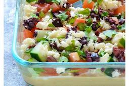 Skinny Greek Layer Dip Recipe