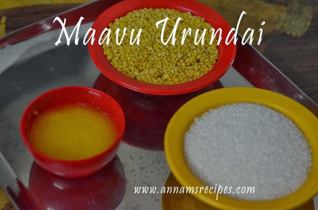 Chettinad Maavu Urundai