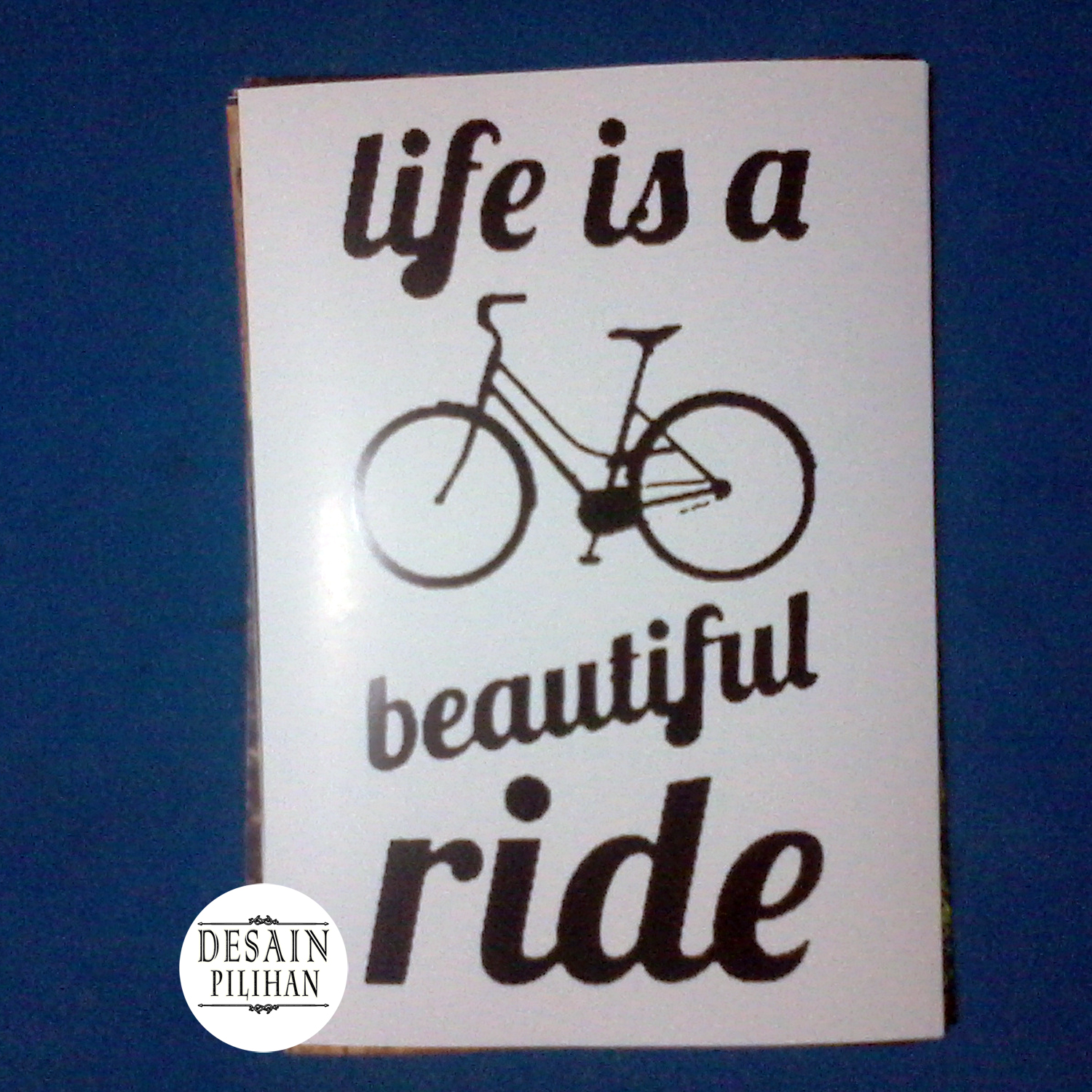 POSTER LIFE IS BEAUTIFUL RIDE