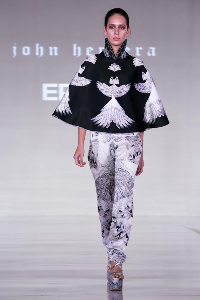 Digitally printed by Epson: John Herrera bags Britain's Top Designer