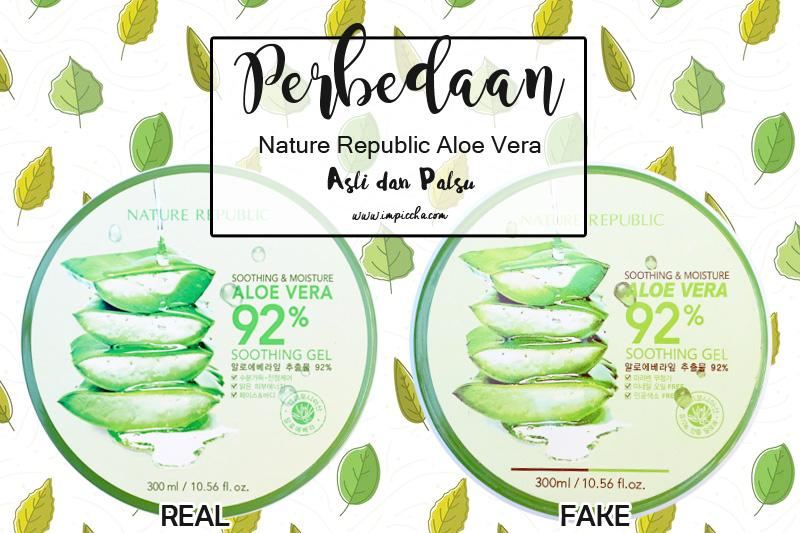 Perbedaan Nature Republic Aloe Vera Gel Asli dan Palsu