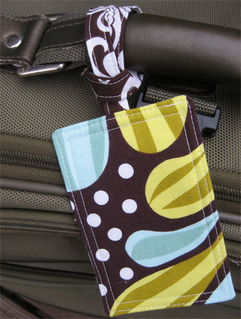 colorful and cute luggage tag