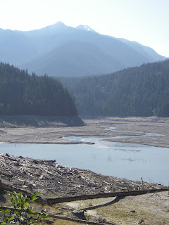 Shoreline along Elwha River in Clallam County