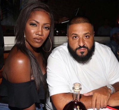 Tiwa Savage poses with DJ Khaled