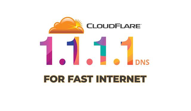 طريقة تسريع الانترنت بدون برامج للاندرويد والويندوز Cloudflare DNS  1.1.1.1