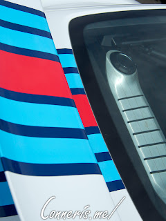 Porsche Cayman GT4 Wing  Martini Livery Stripes