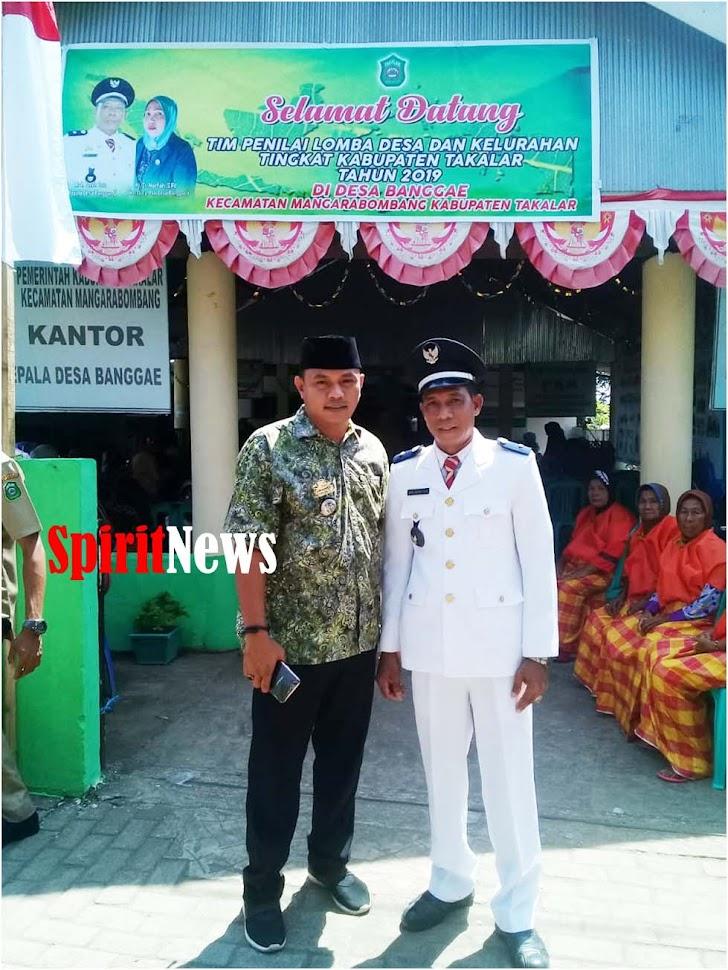 Camat Marbo, Berharap Desa Banggae Jadi Juara 1, di Lomba Desa/Kelurahan se Kab Takalar