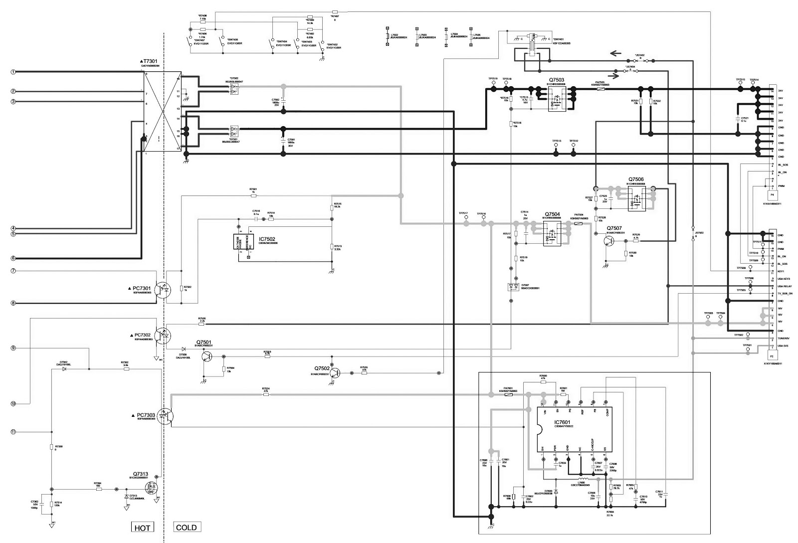 TNPA5364BJ  SMPS SCHEMATIC  PANASONIC TH L32X30C  LCD