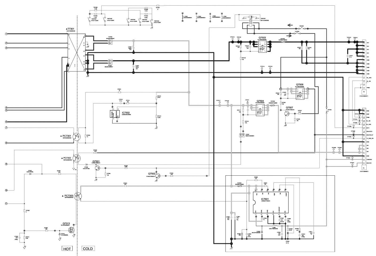 TNPA5364BJ  SMPS SCHEMATIC  PANASONIC TH L32X30C  LCD TV