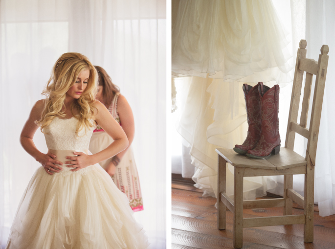 Photographer: Arnica Spring Photography / Wedding Design, Planning, & Wedding Flowers: Katalin Green / Cowgirl Boots