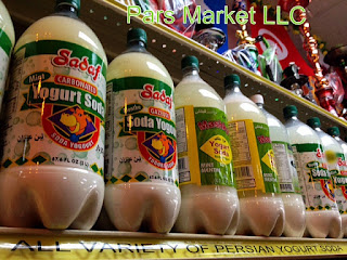 At Pars Market You are able to find Yogurt Drink or Yogurt Soda in small and Large bottle sizes in Plain or with Mint flavors! http://www.parsmarketcolumbia.com