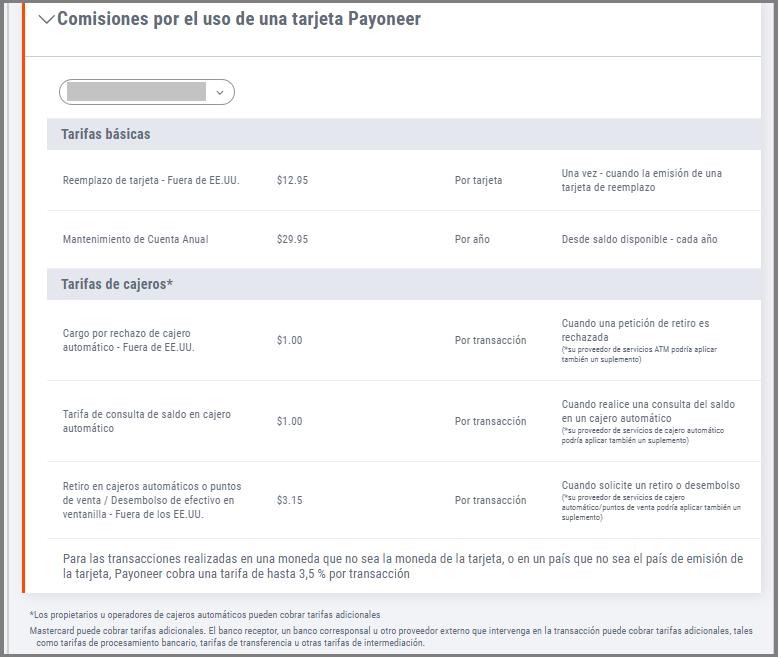 costo-payonner-tarjeta-debito