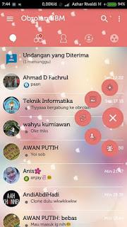 BBM Transparan Love Story Apk