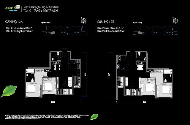 căn 12A, 12B từ tầng 4 đến tầng 39 tòa A3 The Arcadia Vinhomes Gardenia