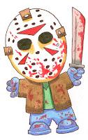 Versão fofa do personagem de terror Jason Voorhees.