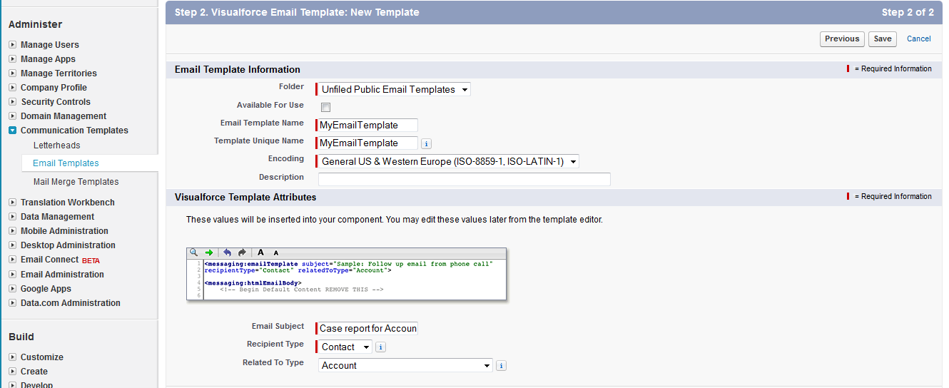 Amit Salesforce How To Create Visualforce Email Templates Step By