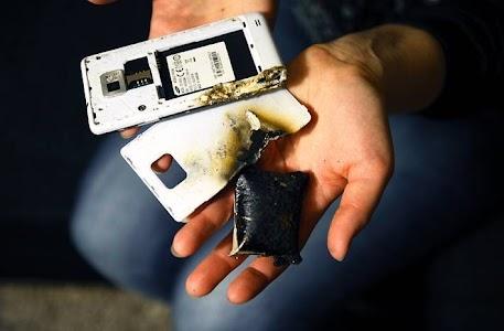 smartphone yang meledak