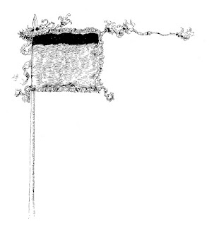 flag image tattered illustration