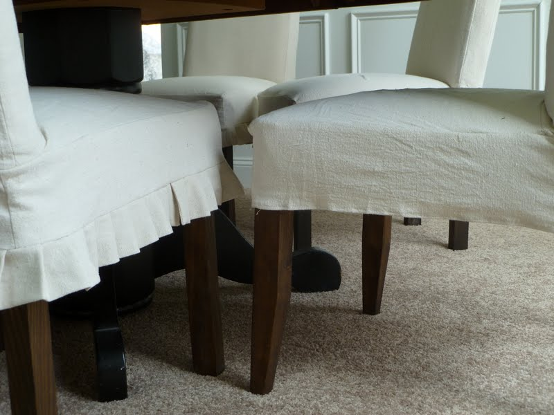 Only From Scratch: Slipcovered Parsons Chairs For The