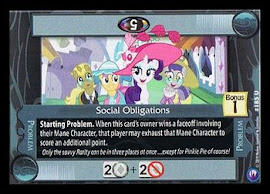 My Little Pony Social Obligations Canterlot Nights CCG Card