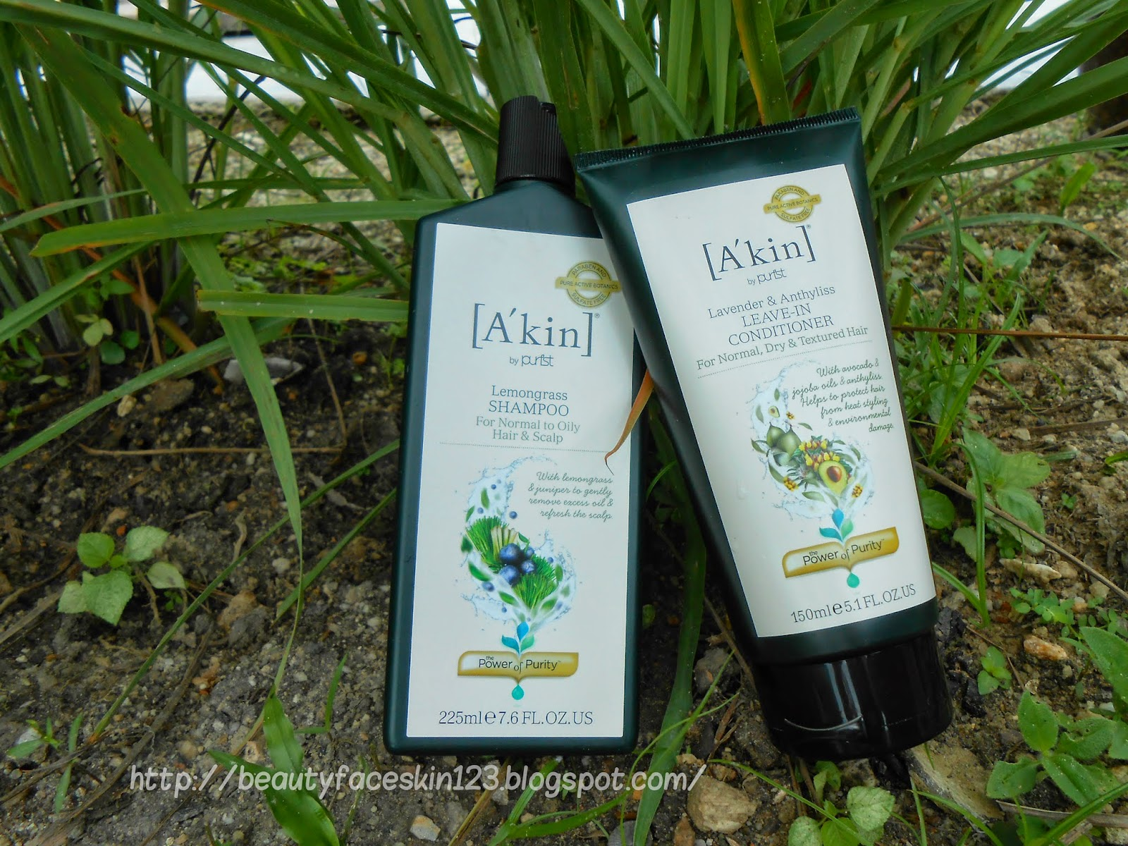 A'KIN LEMONGRASS SHAMPOO & A'KIN LAVENDER LEAVE-IN CONDITIONER