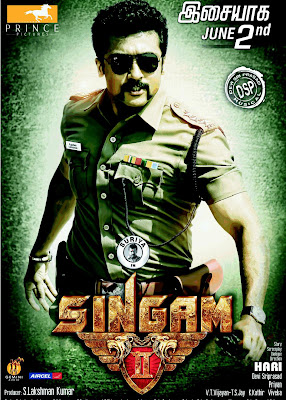 Poster Of Singam 2 (2013) Full Movie Hindi Dubbed Free Download Watch Online At worldfree4u.com