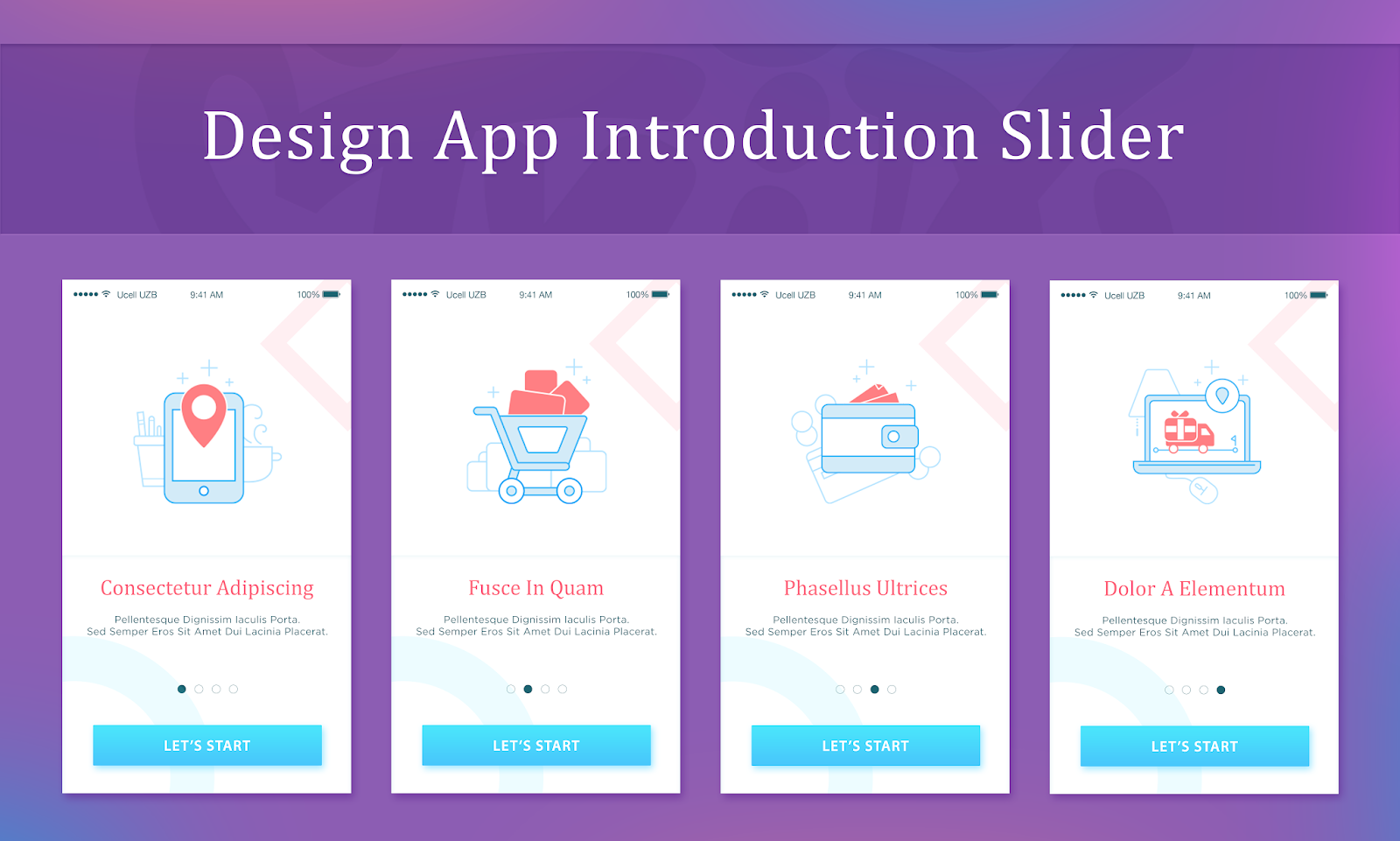 App Intro Slider Design Inspiration