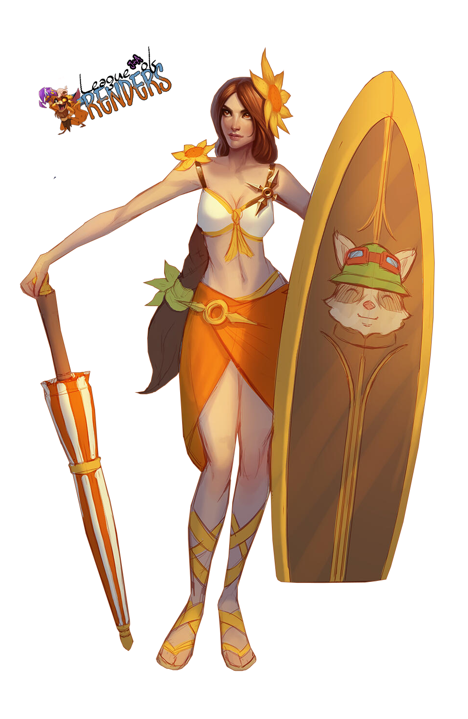 render SKIN Pool Party Leona - Concept