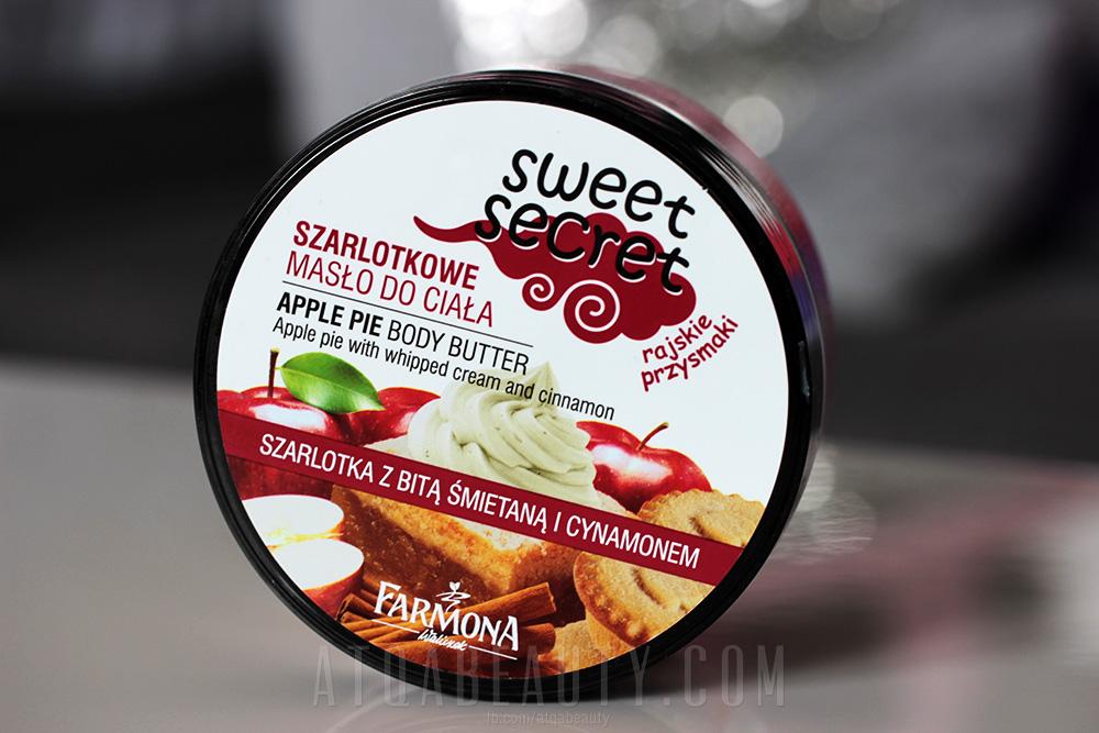 Farmona, Sweet Secret, Szarlotkowe masło do ciała, Szarlotka z bitą śmietaną i cynamonem