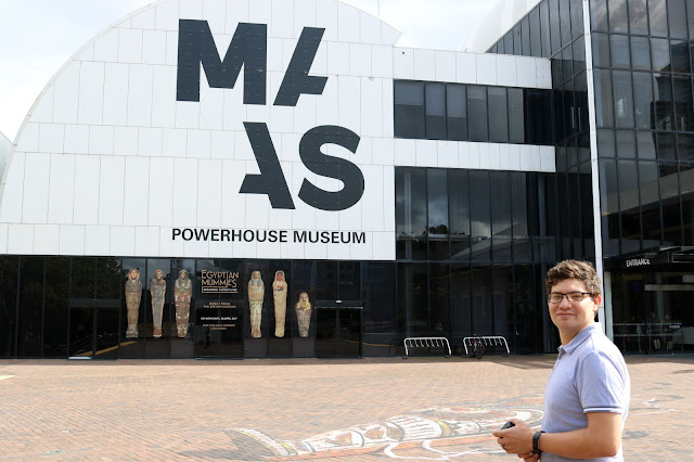 Jesse Outside the Powerhouse Museum