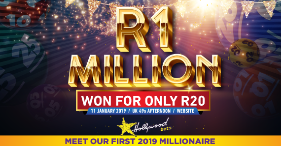 First 2019 Hollywoodbets Millionaire