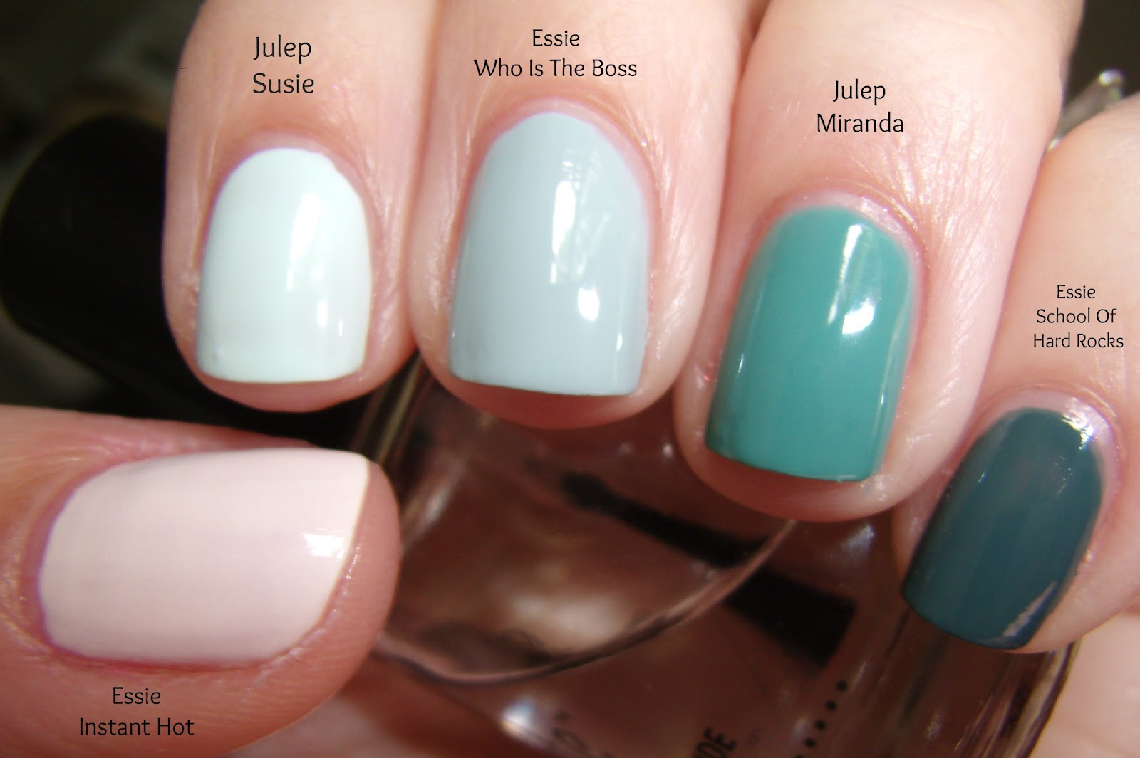 Obsessive Cosmetic Hoarders Unite!: Teal Ombre Nails With ...