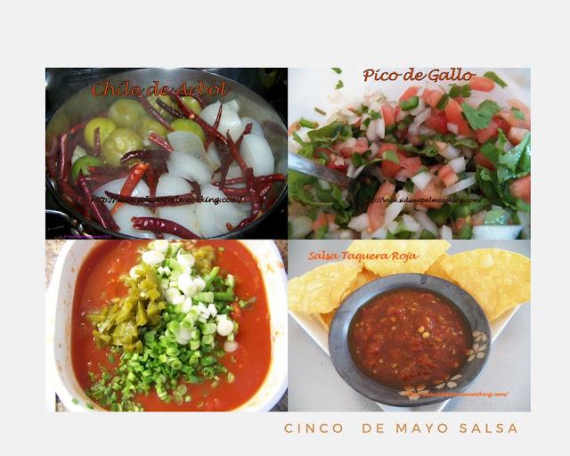Chile de Arbol, Pico de Gallo, Quick and Easy Salsa, Salsa Taquera Rosa