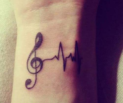 nota bilek dövmeleri bayan musical note wrist tattoos for women
