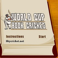 Play World Cup book Cricket Game