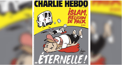 شارلي إيبدو تتعمد خلط الإسلام بالإرهاب وتستفز المسلمين في عددها الجديد