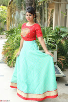 Lucky Shree Looks super cute in Bright Red Green Anarkali Dress ~  Exclusive 051.JPG