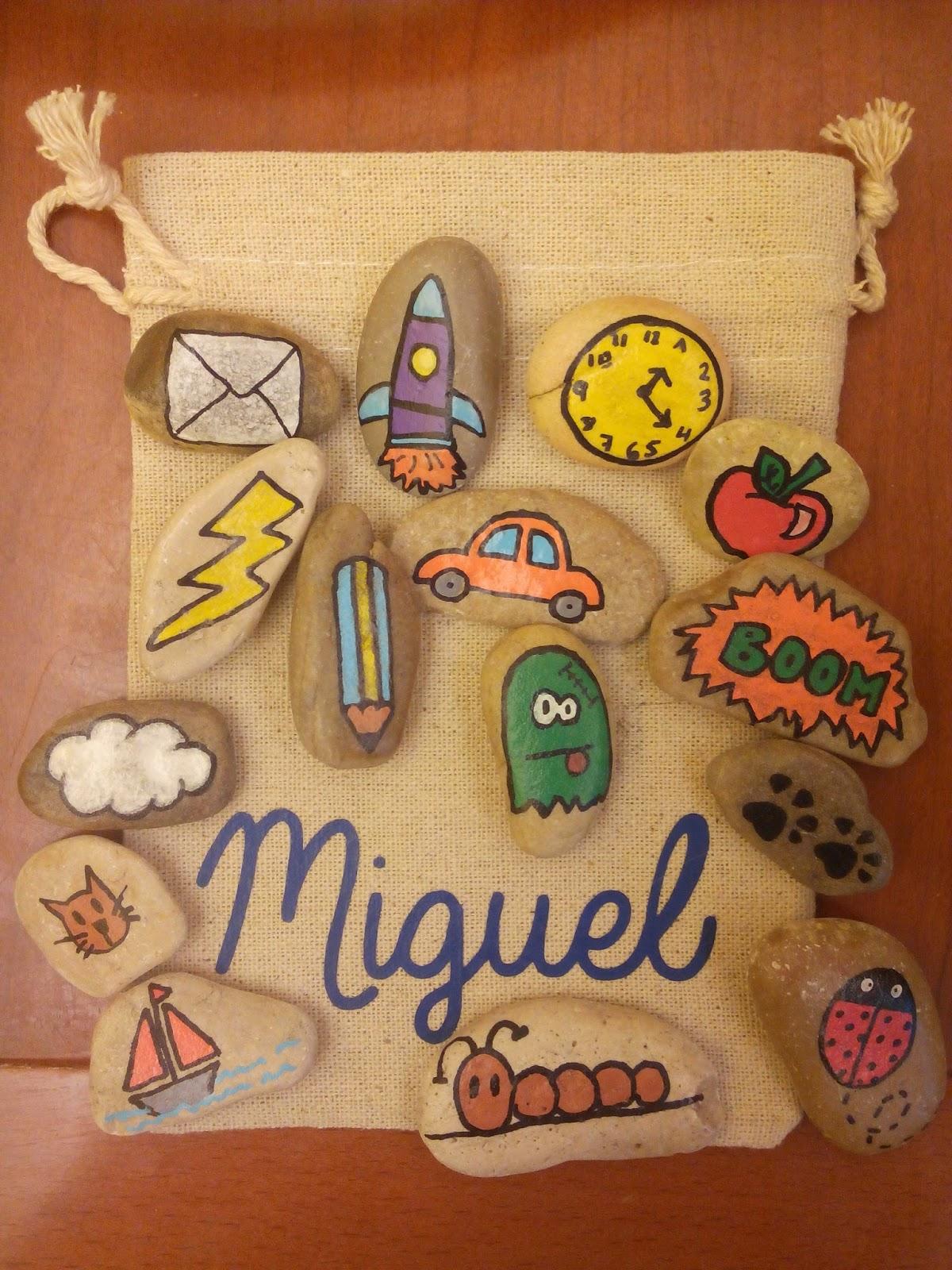 Fieltrositas bolsas de piedras para contar cuentos for Bolsa de piedra para jardin