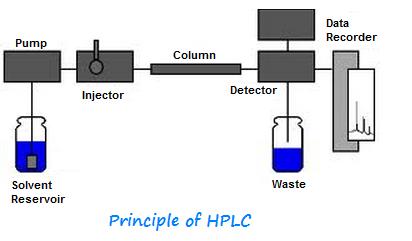 HPLC flow chart