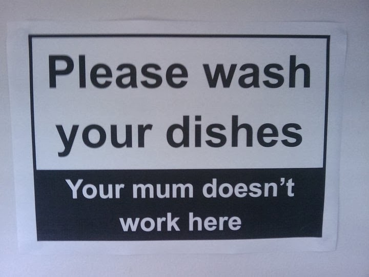 clean dishes sign - photo #27
