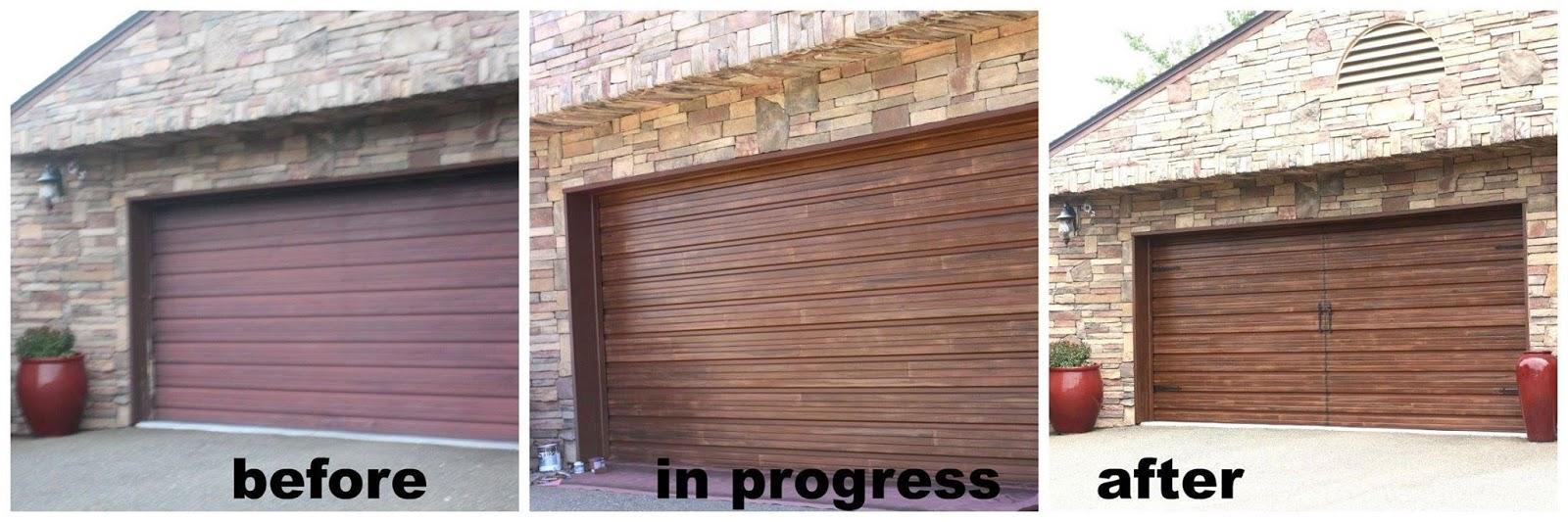 Faux Painted Garage Doors Life And Linda