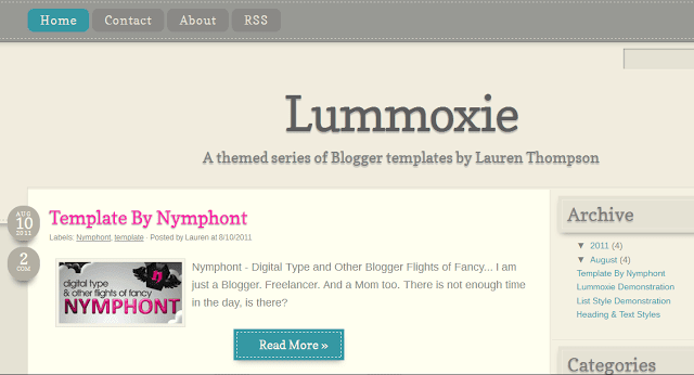 Lummoxie-blogger-template