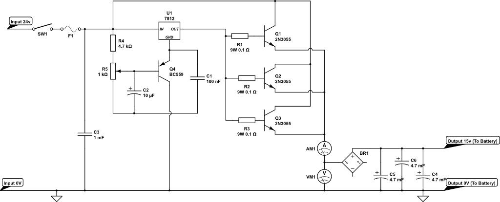 battery charger brian ellul blogthe circuit is built around the voltage regulator u1 7812 this regulator has been wired to deliver a higher voltage than 12v, enough to charge a car