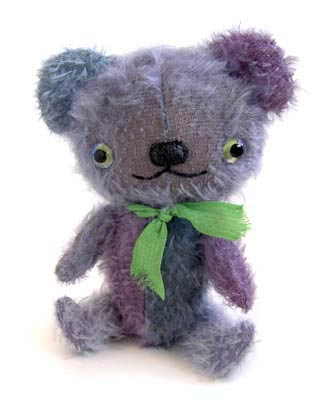 mohair bear purple