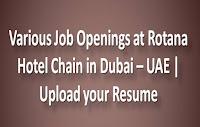 Various Job Openings at Rotana Hotel Dubai