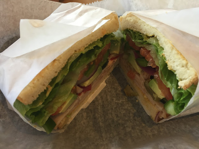 Honey turkey sandwich piled with vegetables at the Perfect Blend in Highland Park