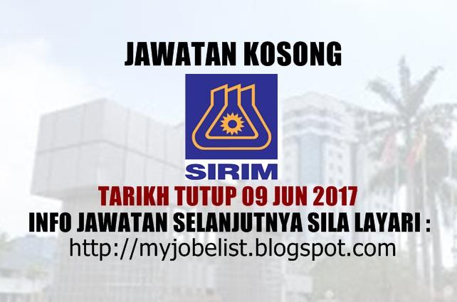 Jawatan Kosong Terkini di SIRIM Berhad Jun 2017