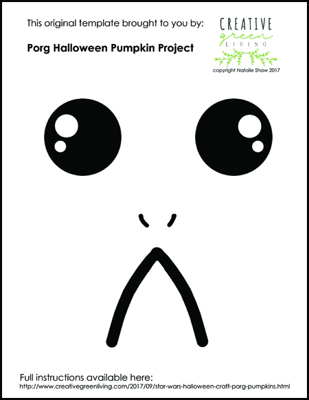Free Download Porg Face Painting Template - Creative Green Living